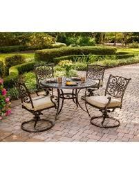 hanover patio furniture. Hanover Outdoor Traditions 5-piece Dining Set (Tan), Patio Furniture U