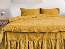 mustard linen duvet cover king queen