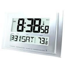jumbo digital wall clock medium image for full image for amazing digital wall clock thermometer jumbo
