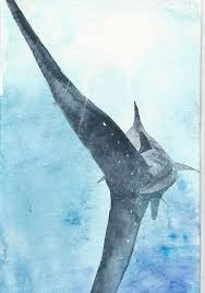 Pin by Muriel Wolf on Malerei | Sea life wall art, Shark art, Shark painting