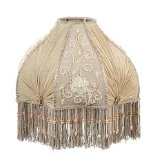 fringe lamp shade table with beaded glass shades red victorian
