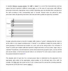 Music Staff Paper Template Adorable 48 Musical Note Templates Sample Templates
