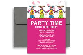 Example Invitation Birthday Party Examples Of Party Invitations