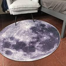 generic creative mat moon carpet puter chair floor mat for living room bedroom study room non slip chair mat plush rug