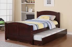 wooden trundle bed  bed furniture decoration