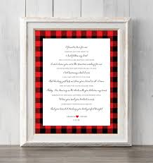 Lyrics To Love You By Free Design Ed Sheeran Perfect Print Christmas Gift Personalized