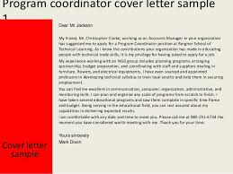 Cover Letter For Program Coordinator Cover Letter Samples Cover