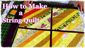 How to Make a String Quilt From Your Scrap Stash (Quilting ... & How to Make a String Quilt From Your Scrap Stash (Quilting Tutorial) -  YouTube Adamdwight.com