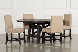 Jaxon 5 Piece Round Dining Set Wupholstered Chairs Living Spaces