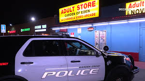 an book was held up tuesday morning in garden grove and police are looking for the two men involved one of whom struck the s clerk with a