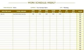 Staff Schedule Template Weekly Scheduling Excel Hours Spreadsheet