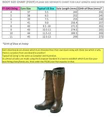 Calf Size Boots Chart Country Boot Sizing Information Boots Country Boots