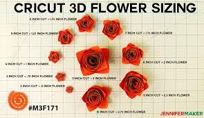 Paper Flower Cricut Template How To Make Cricut Paper Flowers All 10 Jennifer Maker