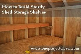how to build shed storage shelves