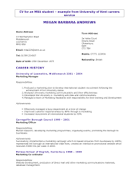 Sample Cv For College Students Heegan Times