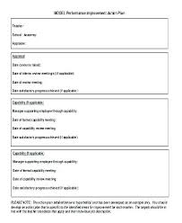 Performance Improvement Plan Definition Unique Employee Action Form Template Performance Plan Sample Corrective