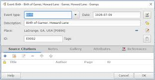 Edit Wiki Gramps 5 0 Wiki Manual Entering And Editing Data Detailed