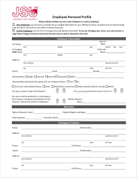 Employee Profile Format Free 11 Personal Profile Samples In Pdf Doc