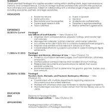 Sample Of Paralegal Resume Immigration Paralegal Resume Sample