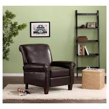 Faux Leather Club Chair Espresso Dorel Living Tar