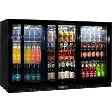 Energy Saving Sliding 3 Glass Door Commercial Bar Fridge