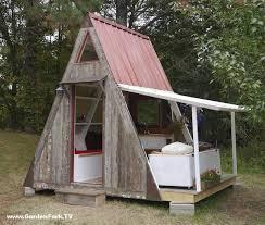 Build a Tiny House   Deek Diedricksen GF Radio   GardenFork TVTiny House Plans   A   Frame Vacation Cabin