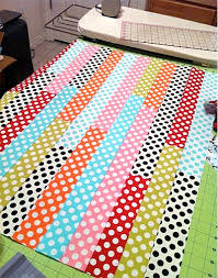 158 best stripes and polka dots images on Pinterest   Creative ... & Spotty baby quilt Adamdwight.com