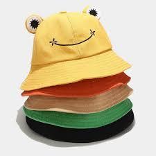 fisherman's hat female new cute cartoon <b>frog</b> basin hat <b>Korean</b> ...