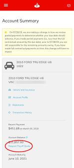 santander payoff how do i request payoff information santander consumer usa