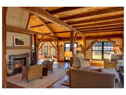Living Room Wood Paneling Decorating Fireplace Marthas Vineyard Lamps Armchairs Area Rug Sofa Barn