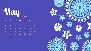 May 2021 Desktop Calendar Wallpaper For ...