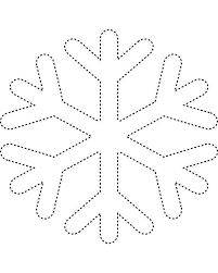 Blank Snowflake Template Free Snowflakes Coloring Pages Printable Download Free Clip