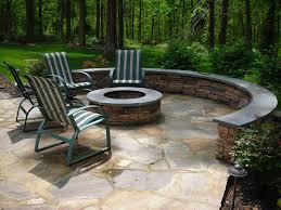 stone patio with fire pit stone fire pits harford baltimore county md ground level flagstone