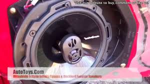 mitsubishi eclipse infinity amp bypass and rockford fosgate mitsubishi eclipse infinity amp bypass and rockford fosgate speakers installation by autotoys com