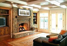 D Living Room With Brick Fireplace Paint Colors Red Wood  Mantel Wall Color For