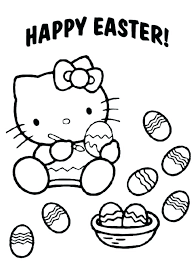 Easter Coloring Pages Printable Free Hello Kitty Coloring Pages