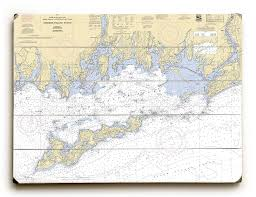 Ny Fishers Island Sound Ny Nautical Chart Sign Island