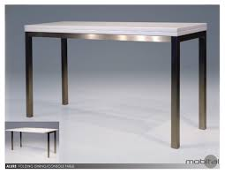 Stainless Steel Kitchen Tables Alure Dintable Sofa Table High Gloss In White Brushed