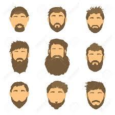 漫画の髪ひげと顔洗練されたスタイル男性の髪型イラストひげ
