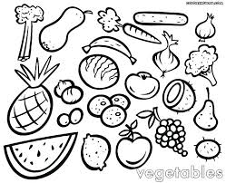 Fruits And Veggies Coloring Pages Vegetable Coloring Pages Free