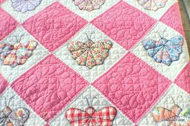 Antique 1930's Butterfly Quilt Hand Pieced and Hand Quilted at 9 ... & Hand Appliqued, Hand Quilted and Hand Pieced. This quilt is 72″x 82″ of  delicate craftsmanship. Quilted at 9 tiny, straight and even stitches to  the inch. Adamdwight.com
