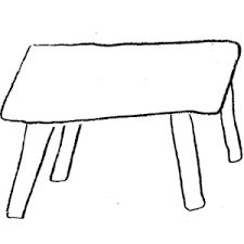 desk clipart black and white. 300x300 Desk Clipart Long Table Black And White