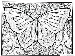 Printable Coloring Pages Of Flowers And Butterflies Butterfly Printable Coloring Pages Butterfly Color Page