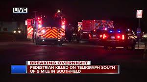 ambulance hits kills pedestrian on telegraph southbound in ambulance hits kills pedestrian on telegraph southbound in southfield
