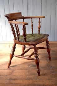 vintage wooden office chair. antique vintage wooden captains chair office desk photo 3
