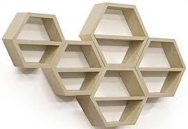 wall mounted floating honeycomb shelves