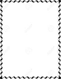 Simple Lines Border Frame Vector Design Monochrome