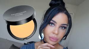 powder makeup tutorial bare minerals everyday makeup bare pro