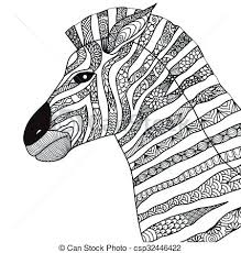 coloring book clipart zebra line art design for and crayons