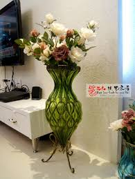 beautiful accessories for home decoration with large floor glass vases breathtaking accessories for living room
